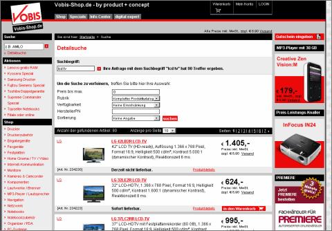 Screenshot www.vobis.de