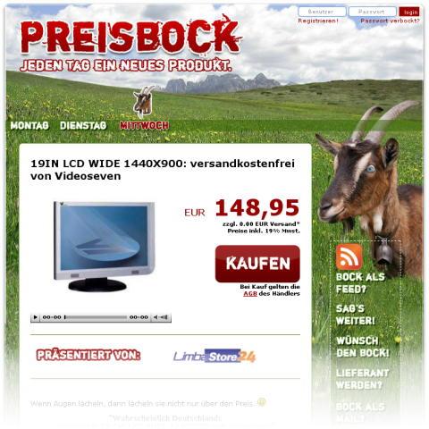 Preisbock Screenshot