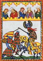 Tjost, Mittelalter