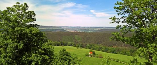 Jena von der Leuchtenburg aus gesehen