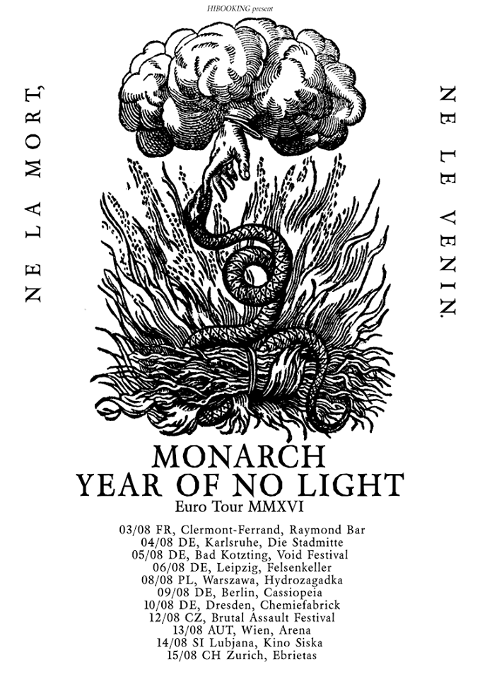 Year of no Light und Monarch! Euro Tour MMXVI