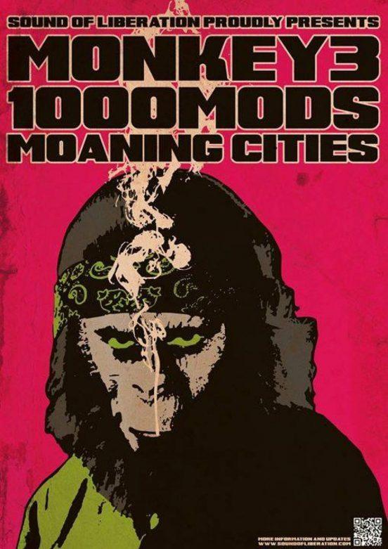 Monkey3, 1000mod und Moaning Cities im Kulturbahnhof Jena