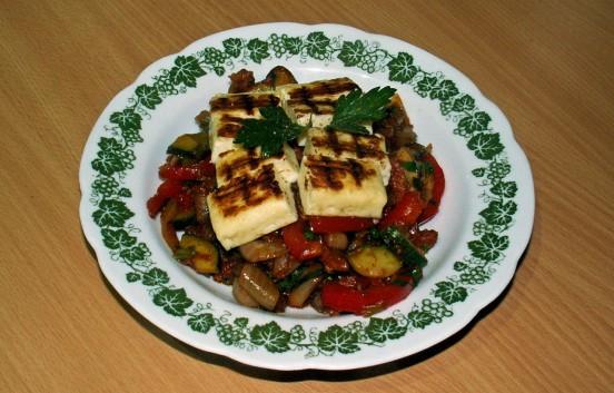 Gemüse mit Halloumi