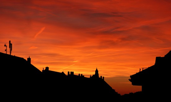 Sonnenuntergang über Gohlis