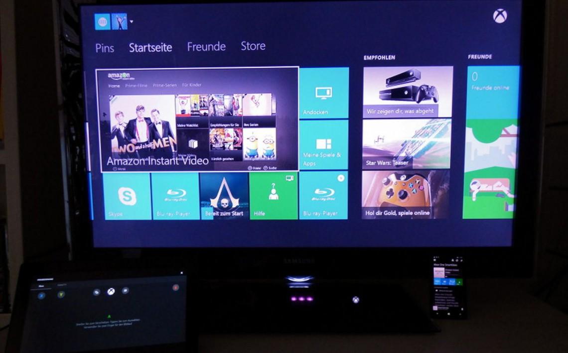 Xbox One mit SmartGlass auf Microsoft Surface Tablet und Windows Phone 8