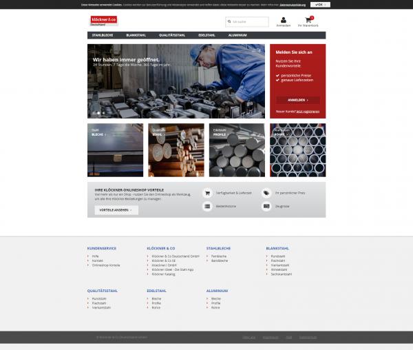 Homepage Klöckner
