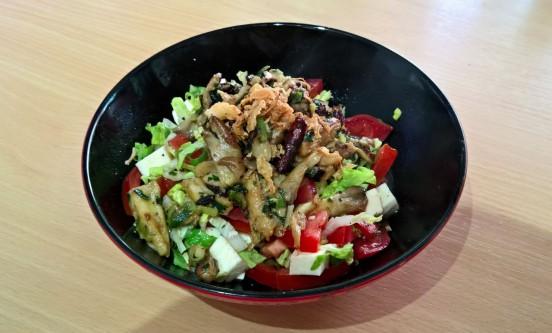 Salat mit Austernseitlingen