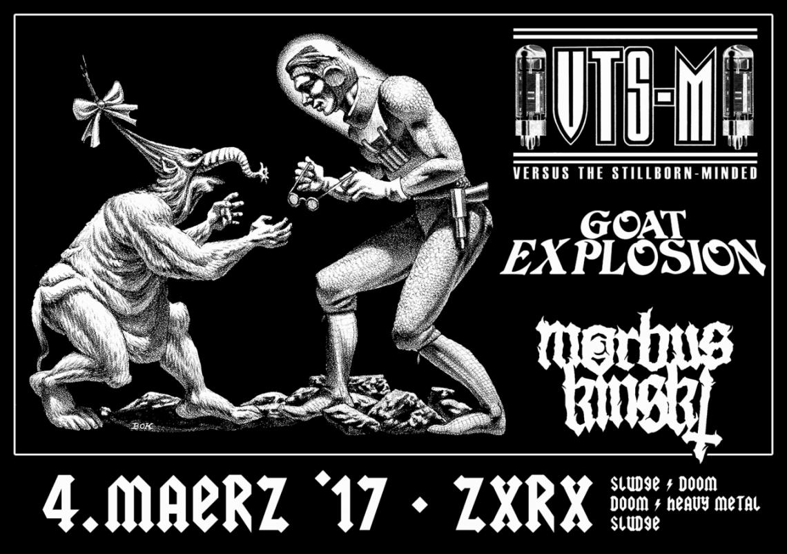 VTS-M, Goat Explosion und Morbus Kinski im Zoro