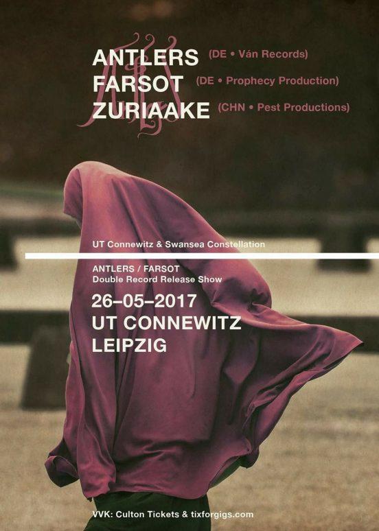 Antlers, Zuriaake und Farsot im UT Connewitz