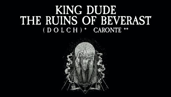 King Dude, The Ruins of Beverast, (Dolch) und Caronte im Kulturbahnhof Jena