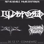 Illdisposed, Zeit und Dehuman Reign im UT Connewitz
