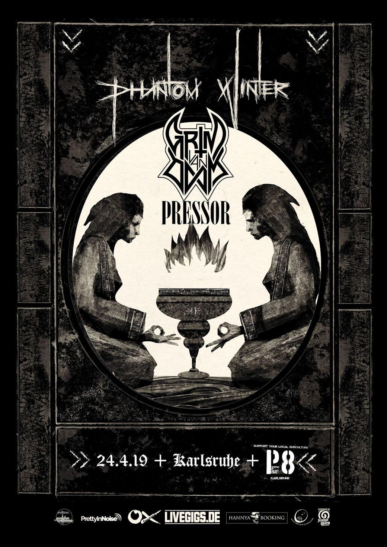 Phantom Winter, Grim Van Doom und Pressor im P8 Karlsruhe