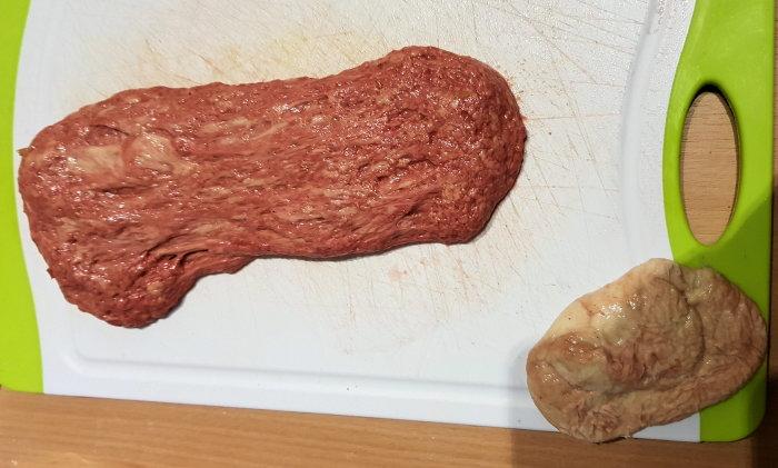Sliced Steak Burger - Seitan Grundmasse