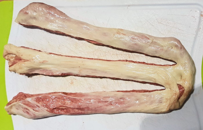 Sliced Steak Burger - Seitan-Fettschicht um Seitan-Fleisch